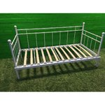 90x200 white metal bed