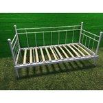 90x200 белая металлическая кровать